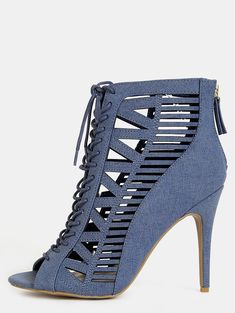 a6b8712466d Online shopping for Geometric Cut Outs Denim Booties DENIM from a great  selection of women s fashion