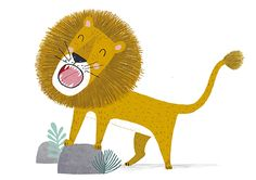 Animal Room, Cute Illustration, Character Illustration, Tiger Sketch, Kids Graphics, Stoff Design, Illustrator, Cute Lion, Lion Art