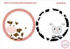 Mamá Decoradora: Kit Imprimible La Granja Gratis Farm Birthday, Birthday Party Themes, Western Parties, Ideas Para Fiestas, Farm Animals, Decorative Plates, Lily, Baby Shower, Tractor