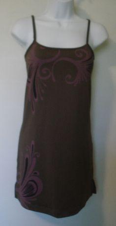 ATHLETA ~ Built-In Underwire BRA SunDress DRESS ~ Spaghetti Strap ~ BROWN ~ S #Athleta #SkirtsSkortsDresses