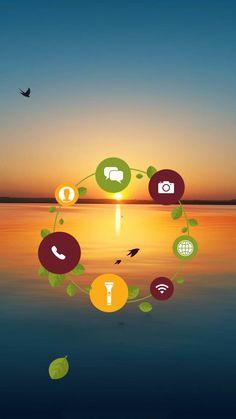 ↑↑TAP AND GET THE FREE APP! Lockscreens Art Creative Sky Sun Shortcut Birds Sea Horizont HD iPhone 6 Lock Screen