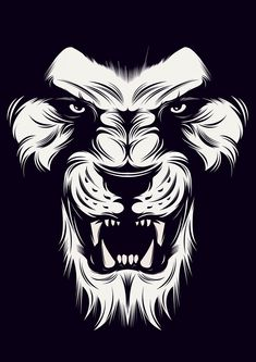 Angry Lion Vector on Behance