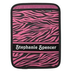 Pink Zebra Print iPad Sleeve