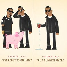 Jay Z's 99 problems, illustrated.