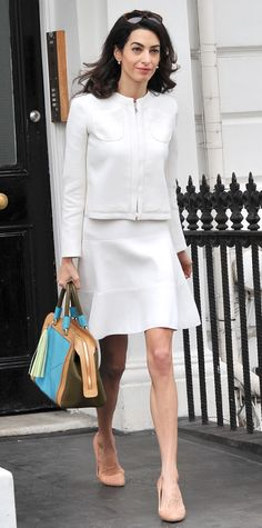 12 Chic Amal Clooney Looks to Inspire Your Work Wardrobe - June 24, 2015 - from InStyle.com