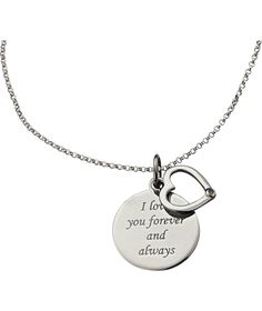 Buy From the Heart Silver Diamond Set Heart and Disc Pendant at Argos.co.uk - Your Online Shop for Ladies' necklaces.