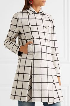Valentino | Checked double-faced wool coat | NET-A-PORTER.COM