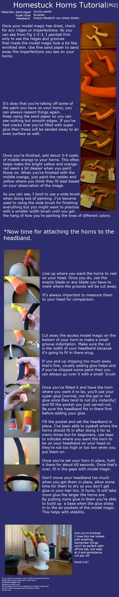 Homestuck Horns Tutorial Part Two by *Lambentworld
