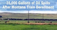 Three tank cars continued to leak crude oil on Friday in rural, northeastern Montana in the wake of a 21-car derailment that downed a power line, closed a major