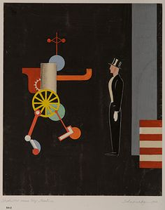 Stepptänzer versus Steppmaschine, 1924 Xanti Schawinsky  Courtesy of the Norman Waitt Jr. Collection.  Photo: Daniel Schawinsky