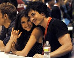 Nina Dobrev and Ian Somerhalder at Comic-Con San Diego on July 25, 2010