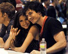 Nina Dobrev and Ian Somerhalder at Comic-Con San Diego on July 25, 2010