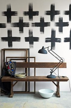 On an accent wall?  black cross