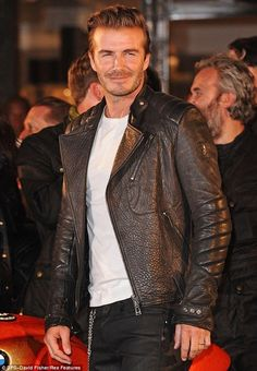 David beckham mens leather jacket
