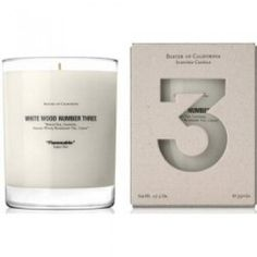 Baxter of California White Wood Number 3 Scented Candle 354g