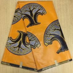 Find More Fabric Information about Yellow Tress design African Print Fabric, Veritable Real Wax,Ghanaian Fabric 6yards free shipping TIN 53,High Quality Fabric from Freer on Aliexpress.com