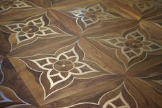 Metal in wood plates. Waterjet works by STF London. Wooden Floor Tiles, Wooden Flooring, Hardwood Floors, Floor Design, Ceiling Design, Tile Design, Floor Patterns, Textures Patterns, Wood Floor Texture