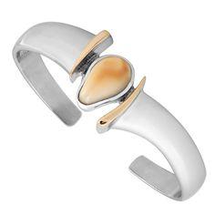 Beautiful Elks Ivory Bracelet made of .995 Sterling silver.