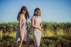 nude simple dresses by sistu