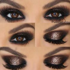 eyeshadow looks easy eyeshadow makeup makeup tutorial mac makeup styles makeup for dark skin makeup repair makeup pictorials makeup pictures Makeup Eye Looks, Smokey Eye Makeup, Pretty Makeup, Skin Makeup, Eyeshadow Makeup, Smokey Eye For Brown Eyes, Makeup Monolid, Brown Eyes Pop, Gold Smokey Eye