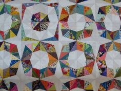 Scrappy Fractal Quilt (detail) | by Kelly of the Saskatoon Modern Quilt Guild