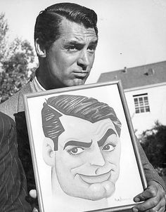 """""""Everybody wants to be Cary Grant. Even I want to be Cary Grant. Golden Age Of Hollywood, Classic Hollywood, Old Hollywood, Hollywood Glamour, Hollywood Stars, Handsome Men Quotes, Handsome Arab Men, Cary Grant, Caricatures"""