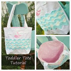 Ric Rac Toddler Tote Tutorial. A little girl's dream! via cherishedbliss.com #tutorial #sewing #tote