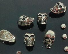 skull buttons metal – Etsy