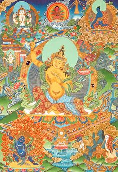 Manjushri taught Padma the calculations of astrology at China's Five Peaked Mountain