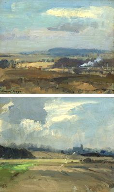 seago, edward landscape with a Watercolor Landscape, Abstract Landscape, Landscape Paintings, Artist Painting, Painting & Drawing, Great Paintings, Love Art, Painting Inspiration, Art Gallery