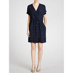 Buy Pyrus Crepe Wrap Dress, Marine Online at johnlewis.com