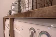 Wasmachine ombouw van steigerhout