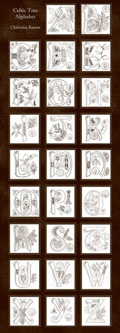 Celtic Alphabet by Christin Kester