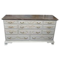 Check out this item at One Kings Lane! 11-Drawer Dresser w/ Faux-Marble Top