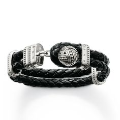 Knot Black Leather Bracelet