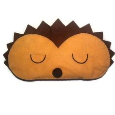 Hedgehog eye mask Hedgehog sleep mask animal sleep mask by NipNopz