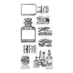 Tampons Cling - Set de 8 Tampons - Rare Oddities 3 - Flacon 2 OZ : 6,7 x 4 cm