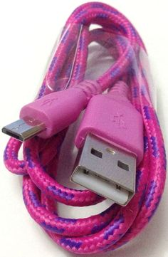 "myEcho Berry Pink and Plum Purple {Mesh Metal Shielded} 10' Feet (3 Meter) Extra Long Quick Charge USB 2.0 Micro USB to USB Data Sync Cord Cable for Phones, Cameras, Tablets and GPS Devices ""SEE COMPATIBILITY"" (Heavy Duty Braided Armor Plated Coating - Tangle Free Design)"