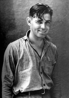 William Clark Gable.  The best shot I ever saw.  So young, so cute, so real, so revealing.