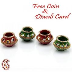 Decorated Matki diyas - Online Shopping for Diyas and Lights by Apno Rajasthan