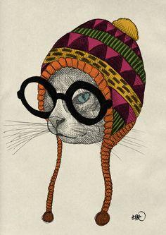 Hipster animal illustration series by Börg.   More hipster animal illustrations here.