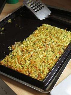 Galette légumes au four (pomme de terre, courgette et carotte)