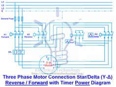 Three phase motor connection stardelta without timer power three phase motor connection stardelta y reverse forward with timer power control diagram asfbconference2016 Gallery