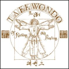 Da Vinci TAEKWONDO T-SHIRT! - Buy Online Tae Kwon Do Tee Shirt - AST425 - Rhino Junction Apparel - 2