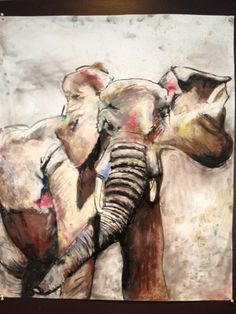 """""""Pink elephant"""", painted by my daughter"""