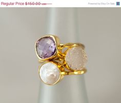 35 OFF SALE  Size 7 Rings  Statement Ring  Stacking by delezhen, $97.50