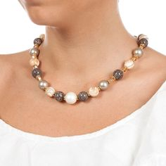 Pearl Necklace, Handmade Jewelry, Fashion, Bead, String Of Pearls, Moda, Handmade Jewellery, Fashion Styles, Pearl Necklaces