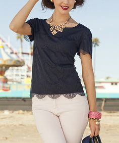 Take a look at this Blue Looff's Pier Top by Shabby Apple on #zulily today!