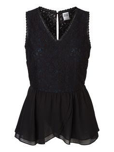 Lace peplum top from VERO MODA. The perfect party top!