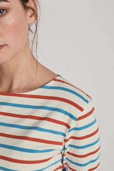A fresh and colourful take on the classic Breton sailor stripes.